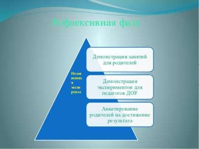 Рефлексивная фаза Независимая экспертиза