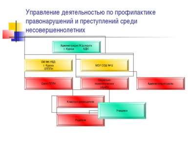 Управление деятельностью по профилактике правонарушений и преступлений среди ...