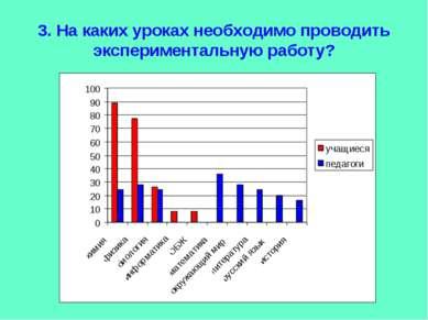 3. На каких уроках необходимо проводить экспериментальную работу?