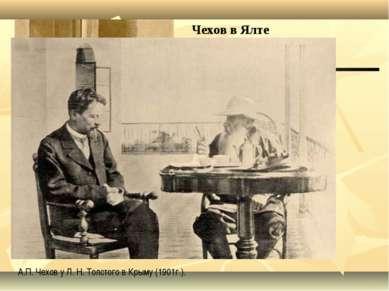 Чехов в Ялте . А.П. Чехов у Л. Н. Толстого в Крыму (1901г.).