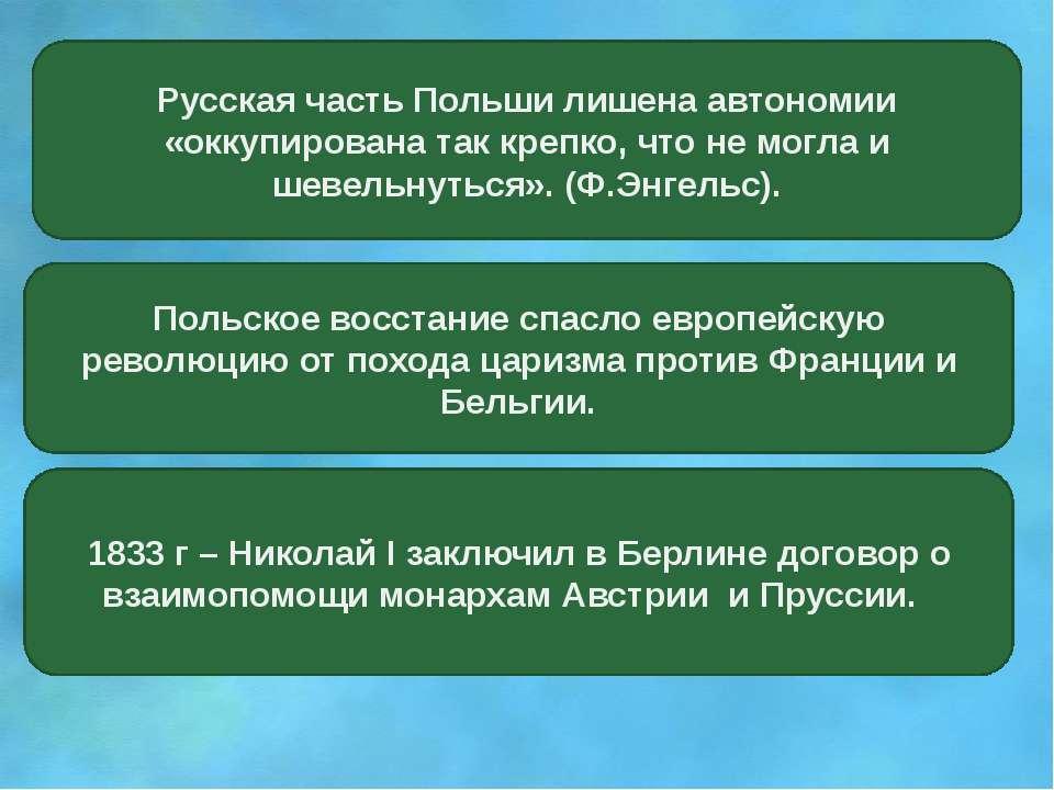 Русская часть Польши лишена автономии «оккупирована так крепко, что не могла ...