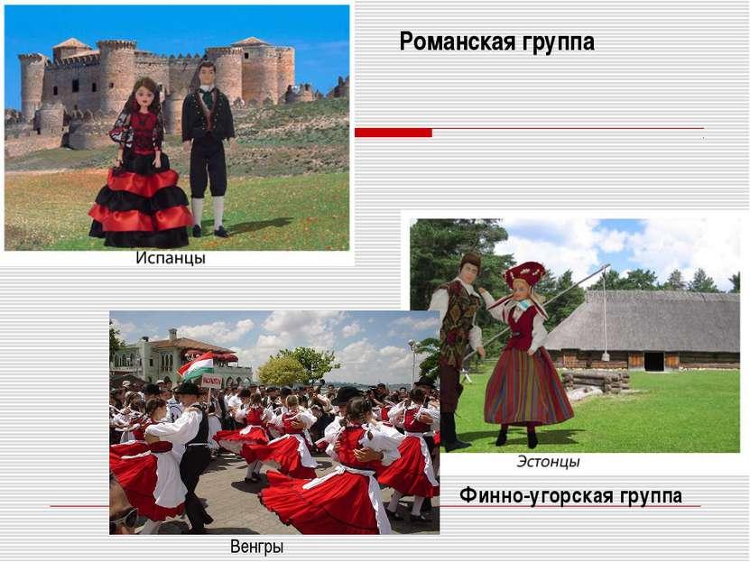 Финно-угорская группа Романская группа Венгры