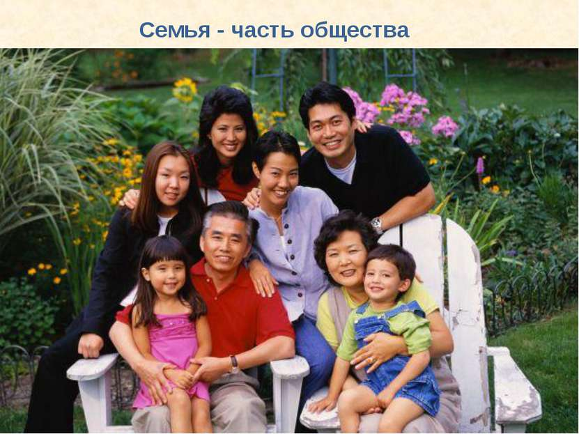 Семья - часть общества
