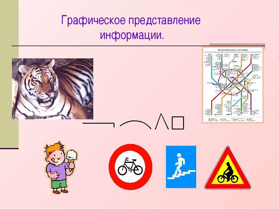 Графическое представление информации.