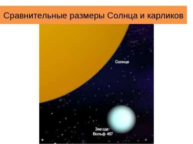 Сравнительные размеры Солнца и карликов