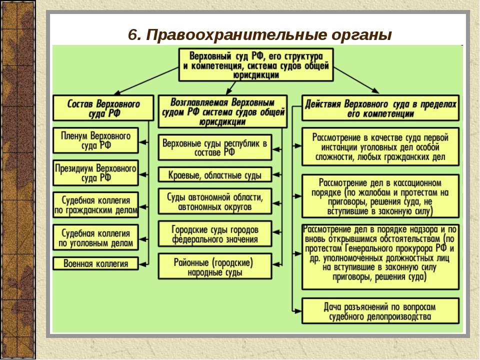6. Правоохранительные органы