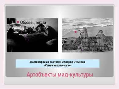 Артобъекты мид-культуры Фотографии из выставки Эдварда Стейхена «Семья челове...
