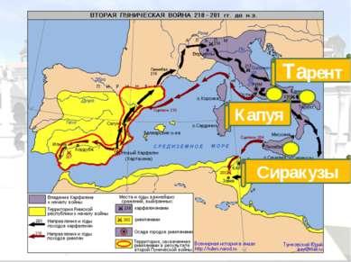 г. Зама 202 г. до н.э. Армия Ганнибала разбита. Условия мира: Карфаген переда...