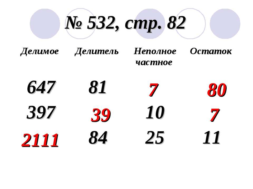 № 532, стр. 82 7 80 39 7 2111