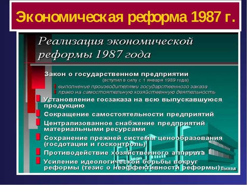 Экономическая реформа 1987 г.