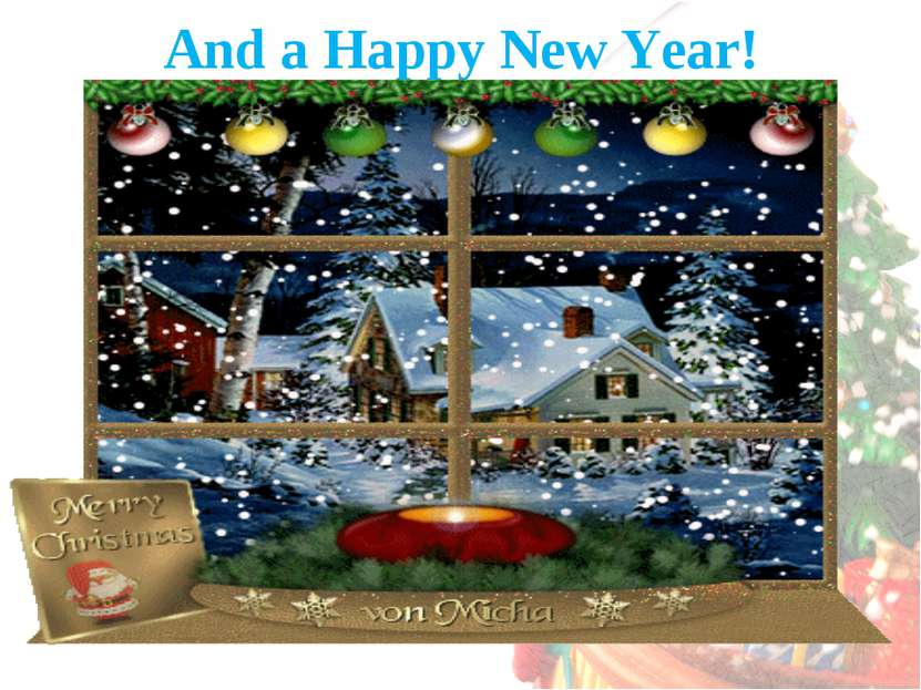 And a Happy New Year!