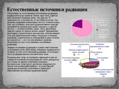Естественные источники радиации Облучению от естественных источников радиации...
