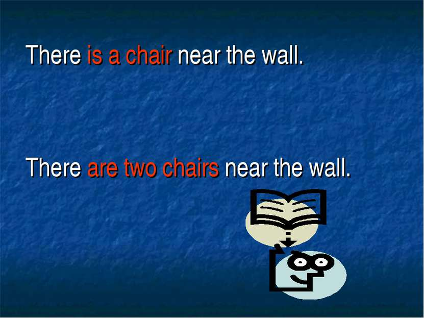 There is a chair near the wall. There are two chairs near the wall.