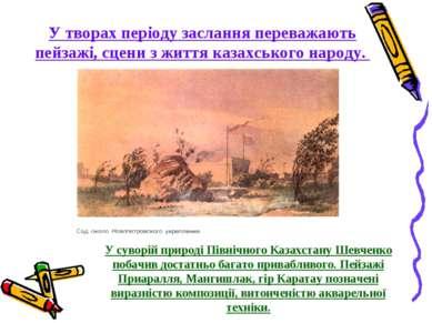 У суворій природі Північного Казахстану Шевченко побачив достатньо багато при...