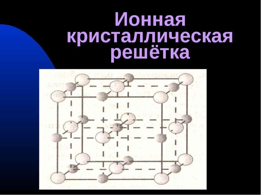 Ионная кристаллическая решётка