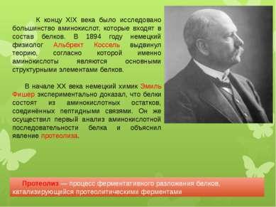 К концу XIX века было исследовано большинство аминокислот, которые входят в с...