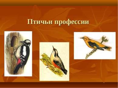Птичьи профессии