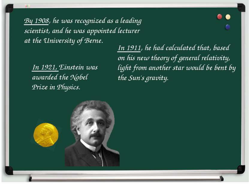 By 1908, he was recognized as a leading scientist, and he was appointed lectu...