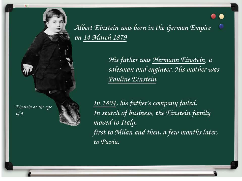 Albert Einstein was born in the German Empire on 14 March 1879 Einstein at th...