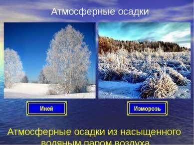 Атмосферные осадки Атмосферные осадки из насыщенного водяным паром воздуха Ин...