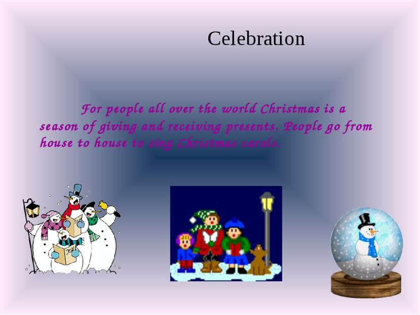 For people all over the world Christmas is a season of giving and receiving p...