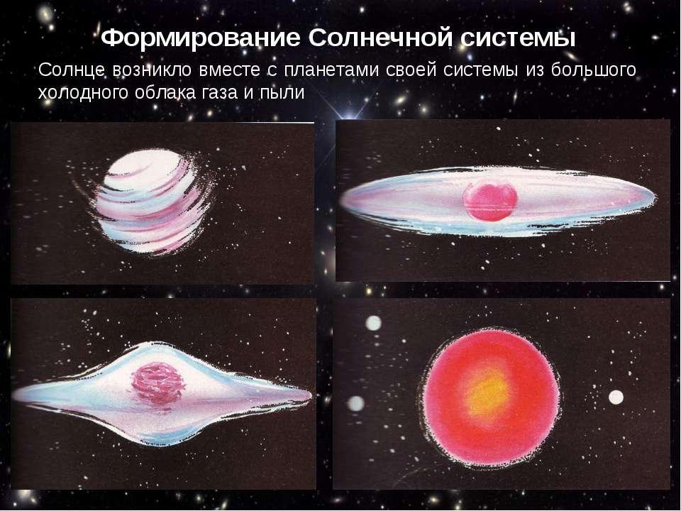 Формирование Солнечной системы Под действием центробежных сил оно превратилос...