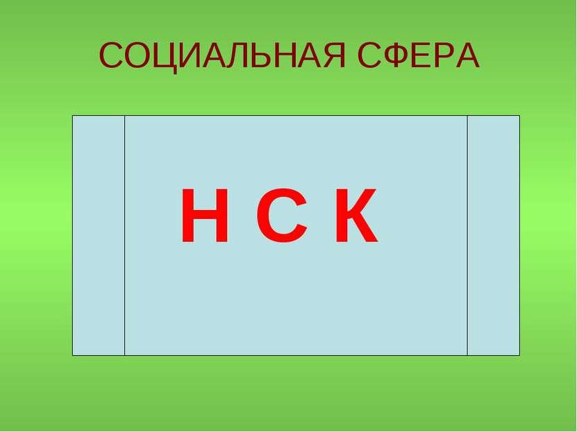 СОЦИАЛЬНАЯ СФЕРА Н С К