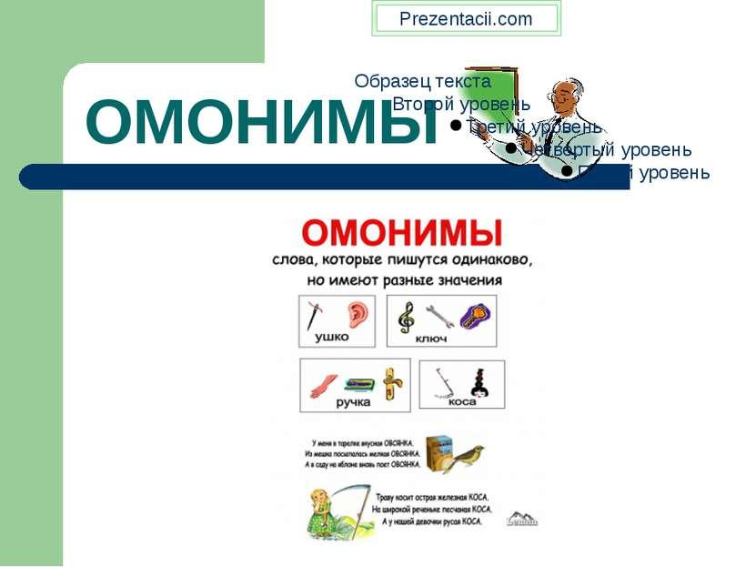 ОМОНИМЫ Prezentacii.com