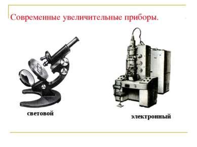 Современные увеличительные приборы. световой электронный