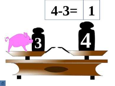 3 4 4-3= 1