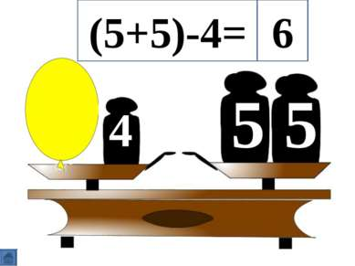 5 5 4 (5+5)-4= 6