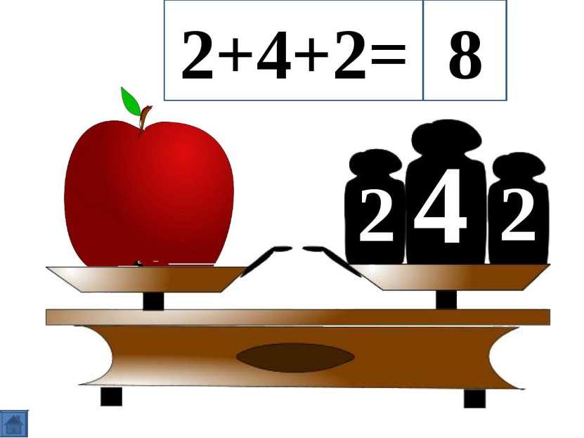 4 2 2 2+4+2= 8