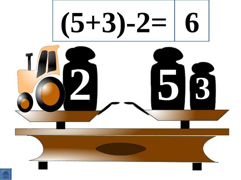 5 2 3 (5+3)-2= 6