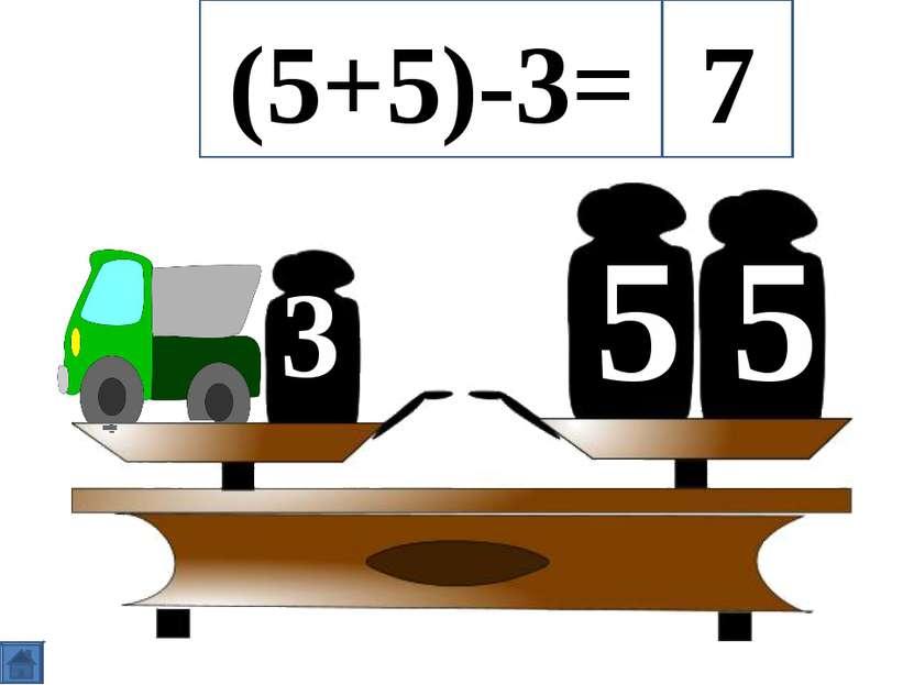 5 5 3 (5+5)-3= 7