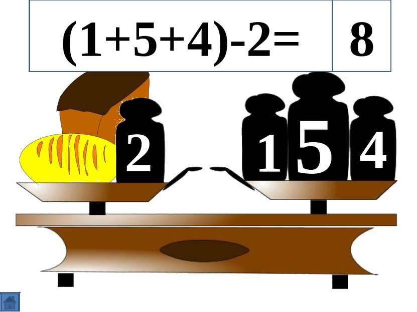 5 1 4 2 (1+5+4)-2= 8