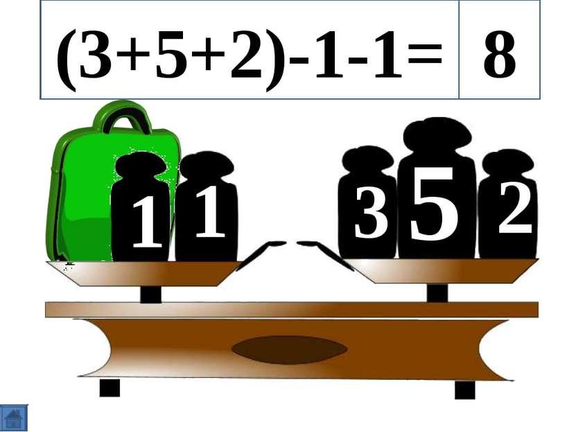 5 3 2 1 1 (3+5+2)-1-1= 8