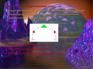 3.Преломление электромагнитных волн. Электромагнитные волны изменяют свое нап...
