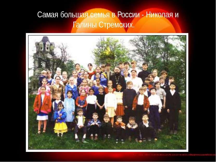 Самая большая семья в России - Николая и Галины Стремских. В районном центре ...