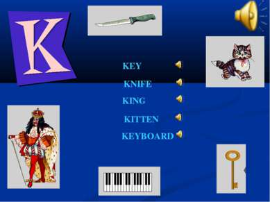 KEY KING KNIFE KITTEN KEYBOARD