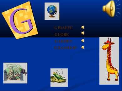 GLOBE GIRAFFE GARDEN GRASSHOP