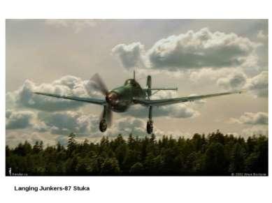 Langing Junkers-87 Stuka
