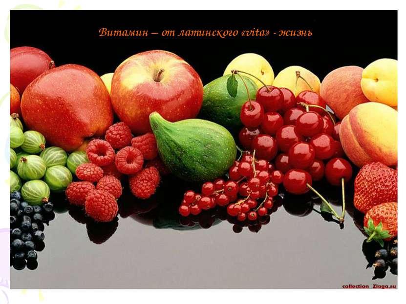 Витамин – от латинского «vita» - жизнь