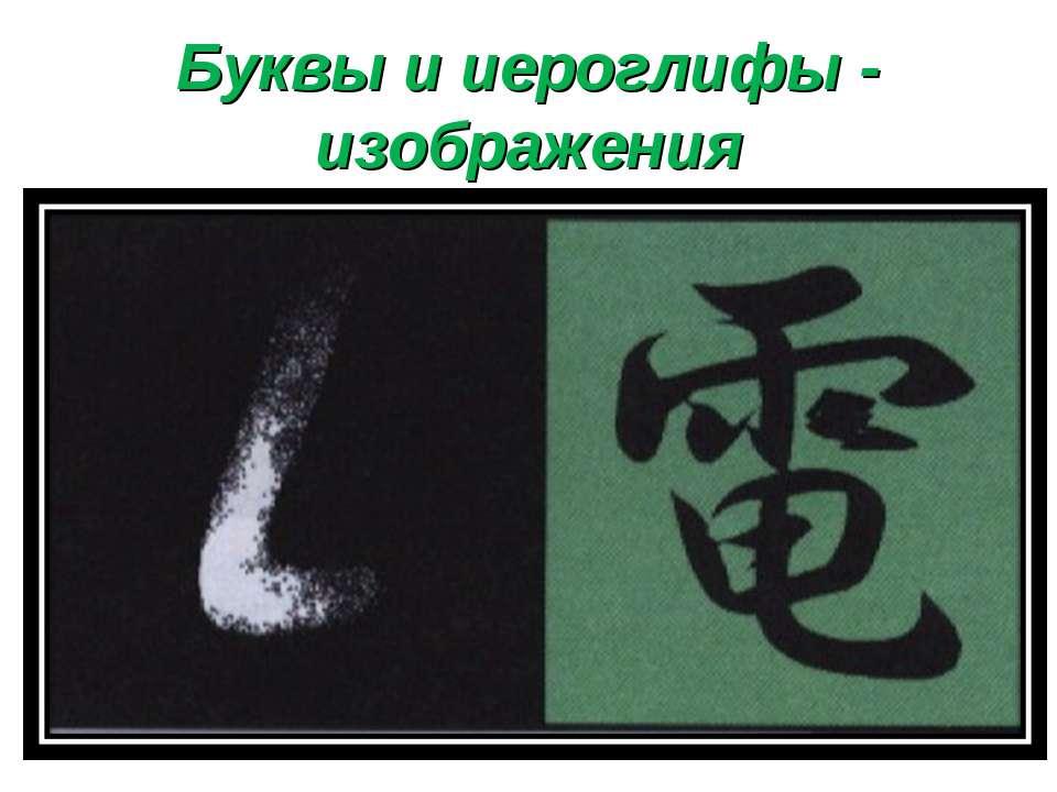 Буквы и иероглифы - изображения