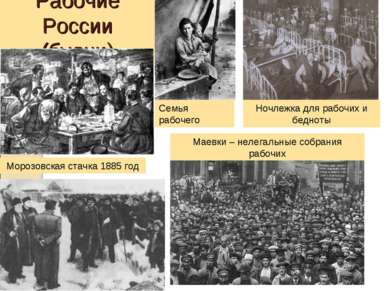 Рабочие России (будни) Морозовская стачка 1885 год Семья рабочего Ночлежка дл...