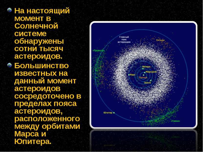 На настоящий момент в Солнечной системе обнаружены сотни тысяч астероидов. Бо...
