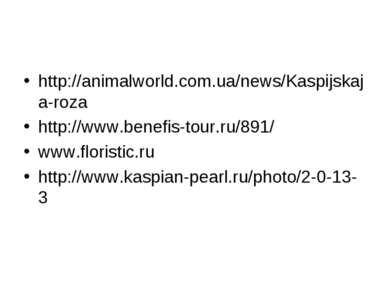 http://animalworld.com.ua/news/Kaspijskaja-roza http://www.benefis-tour.ru/89...