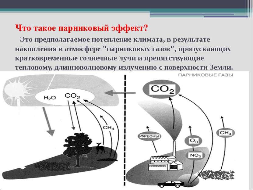 Что такое парниковый эффект? Это предполагаемое потепление климата, в результ...