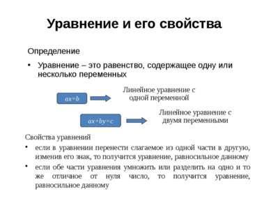Способ подстановки (алгоритм) Из какого-либо уравнения выразить одну переменн...