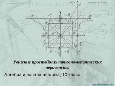 Воробьев Леонид Альбертович, г.Минск Алгебра и начала анализа, 10 класс. Реше...