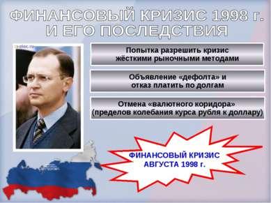 С.В.Кириенко. Премьер-министр Правительства России в марте – августе 1998 г.г...